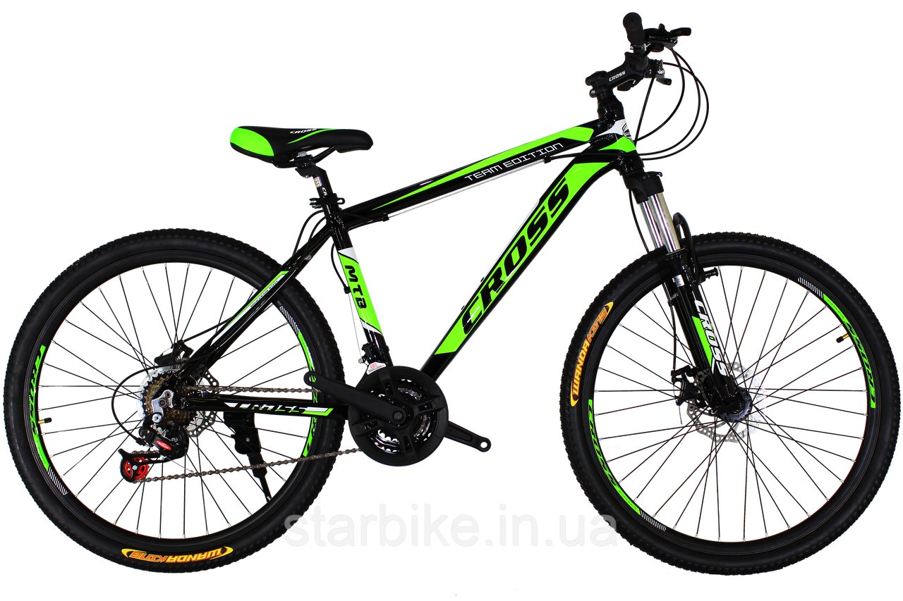 Горный велосипед Cross Hunter 26 Black-Green-White