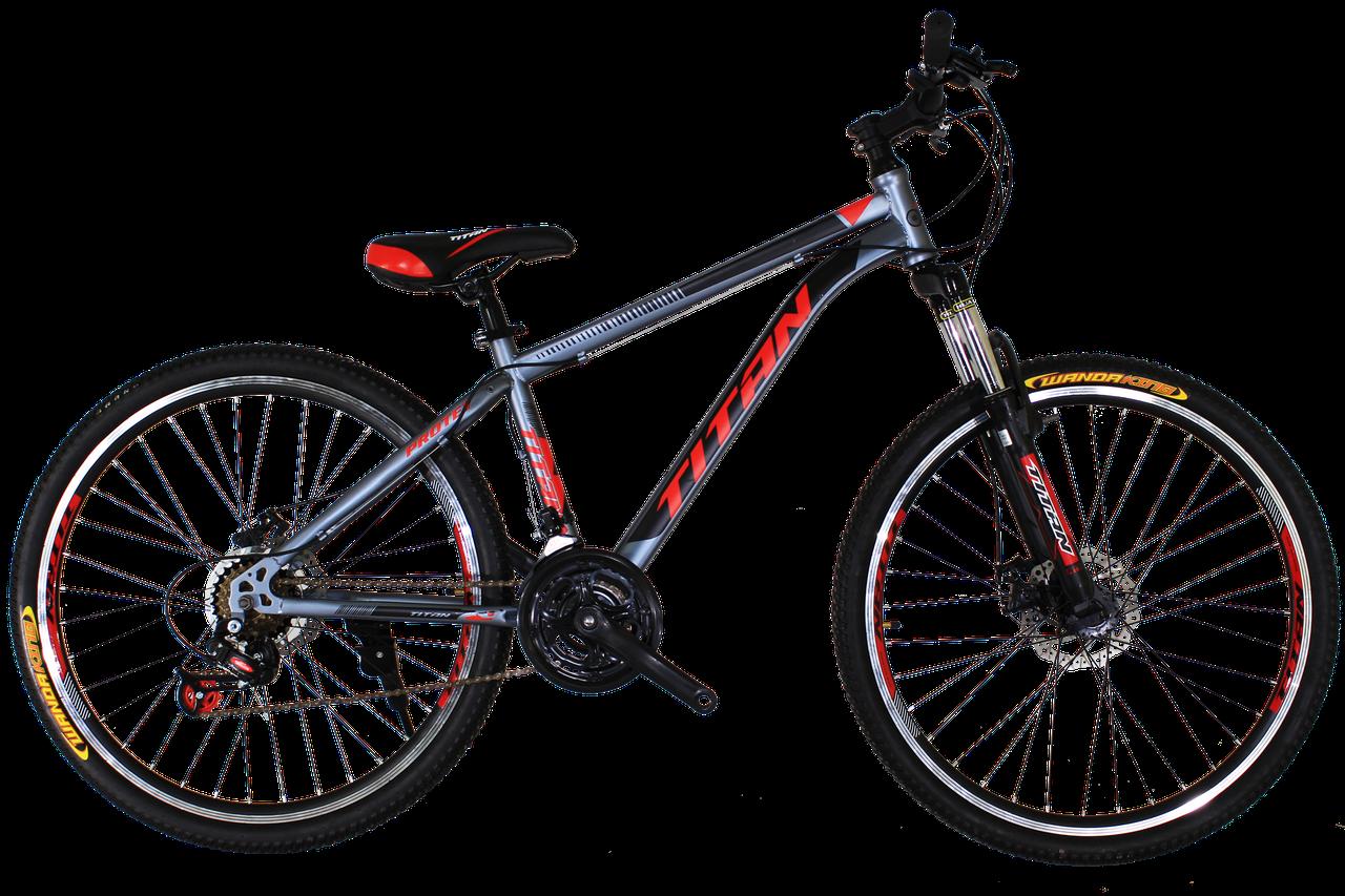 "Горный велосипед Titan Protey 26"" V2 Chrome-Red-Black"