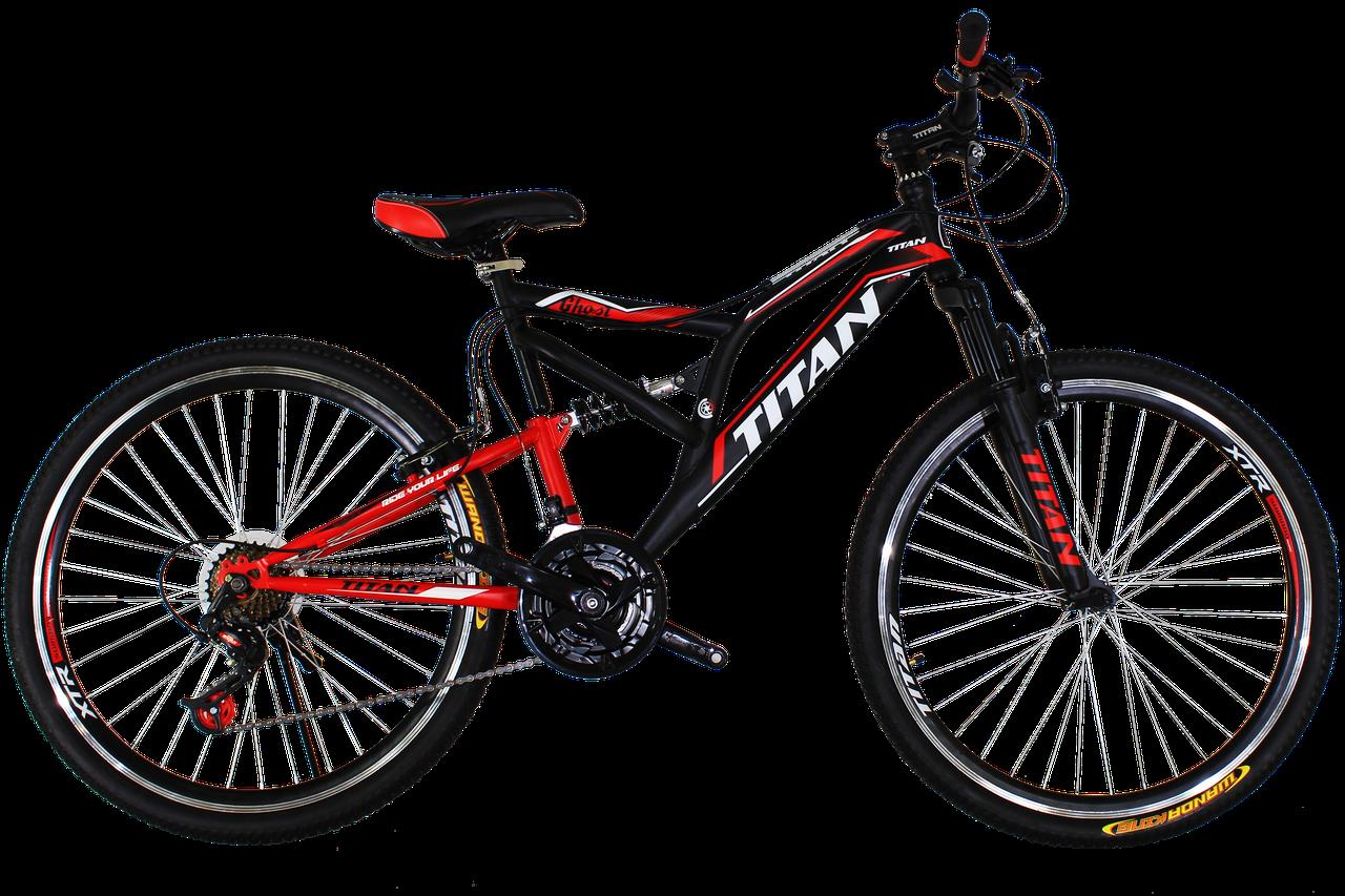 """Горный велосипед Titan Ghost 26"""" Black-Red-White"""