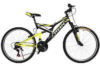 """Горный велосипед Titan Ghost 26"""" Black-LightGreen-White"""