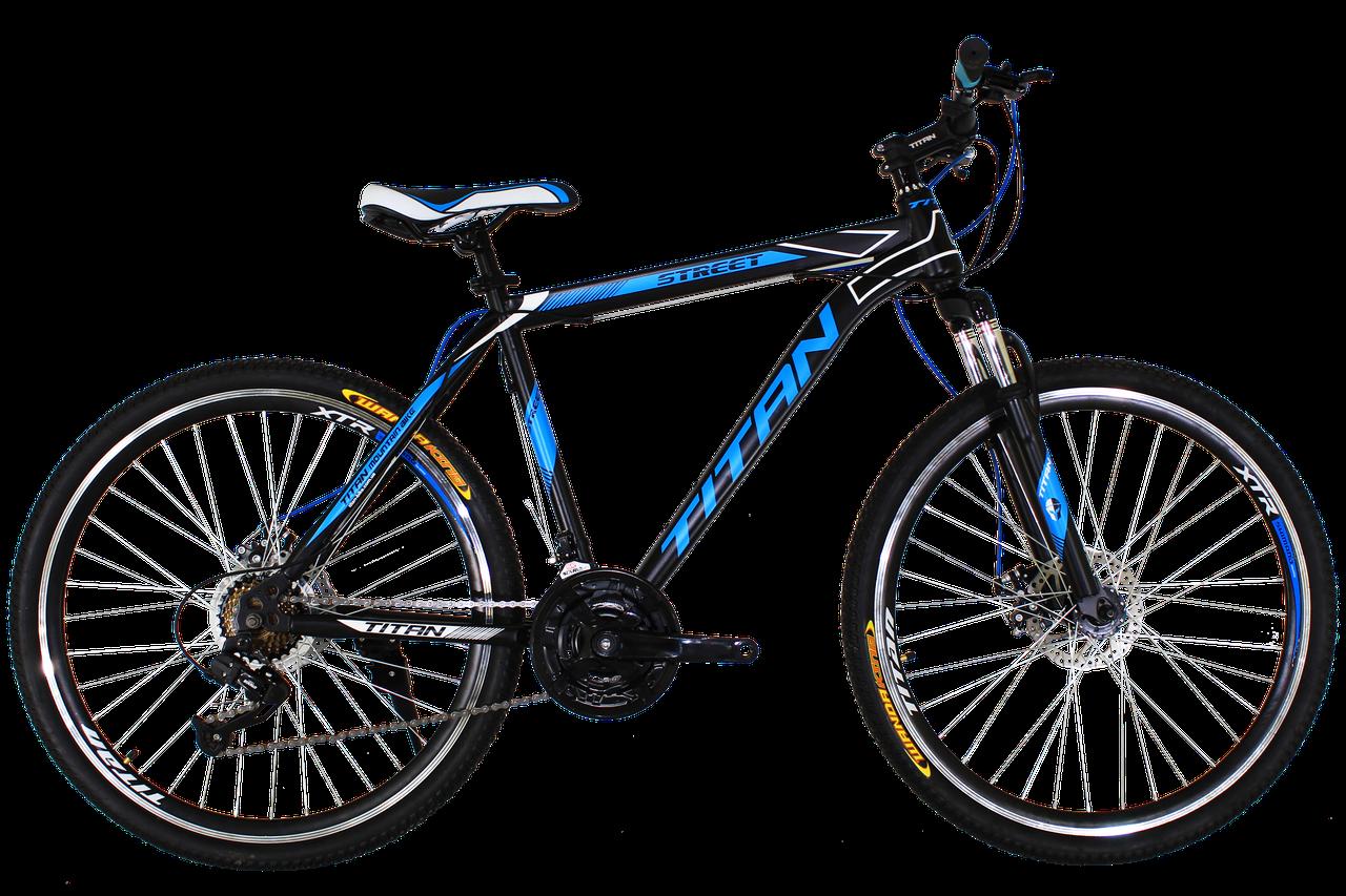 """Горный велосипед Titan Street 26"""" Black-Blue-White"""