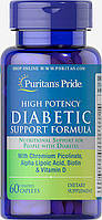 Puritan's Pride	Активное долголетие	Diabetic high potency support formula	60 caplets