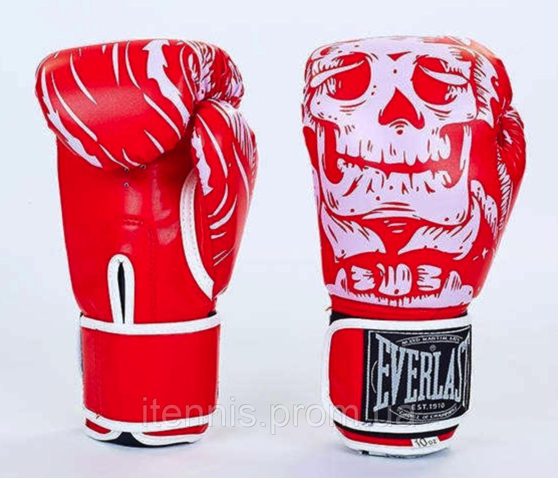 Перчатки боксерские EVERLAST FLEX на липучке PU (R), фото 1