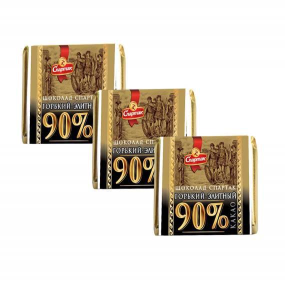 Шоколад Спартак весовой горький  90% какао 5г
