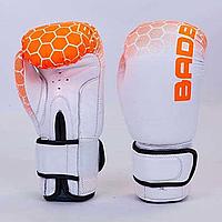 Перчатки боксерские BADBOY на липучке КОЖА, фото 1