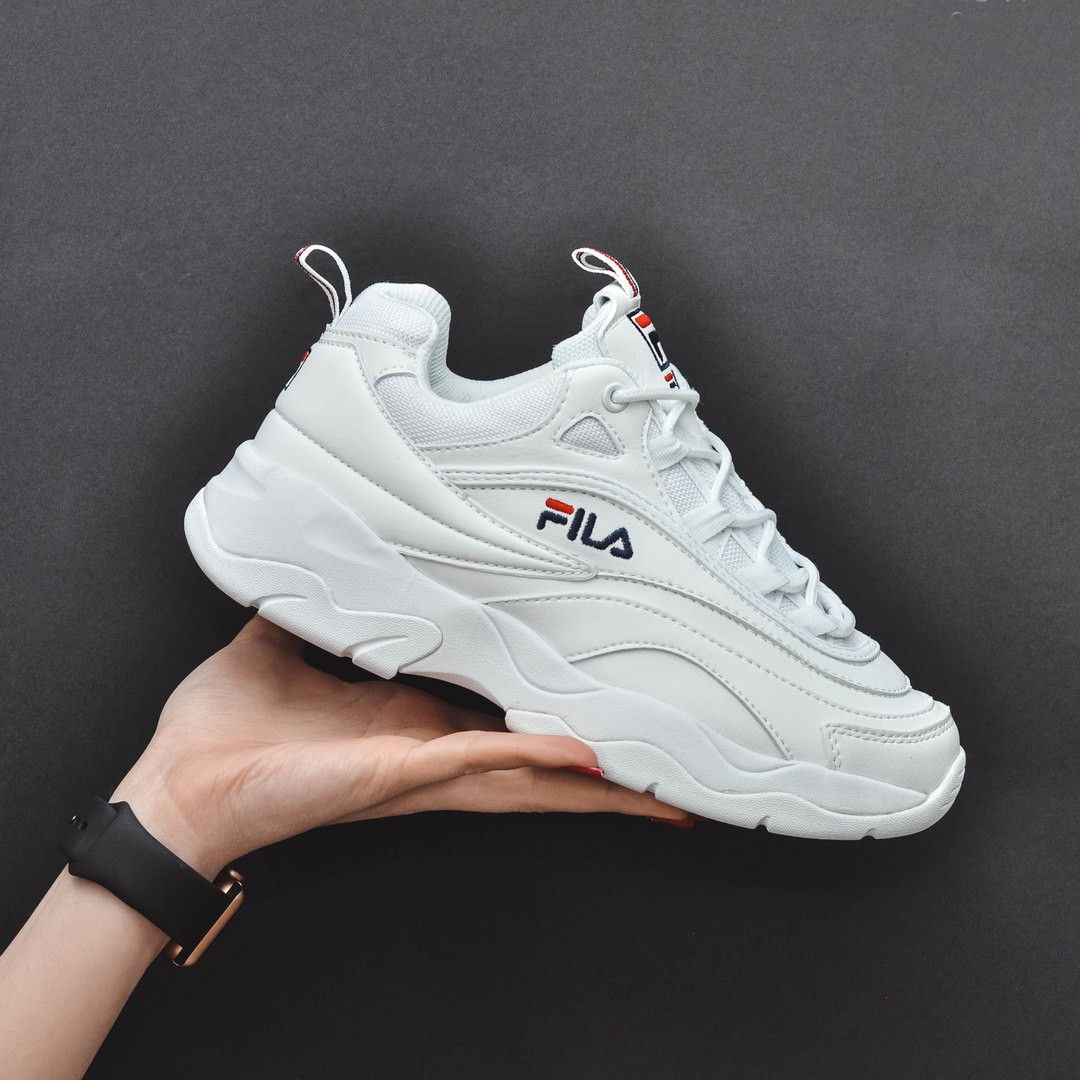 542e21540389 Женские кроссовки в стиле Fila Ray White Белые - Интернет-магазин