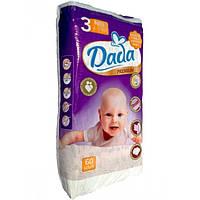 Обновленные подгузники Dada 3 premium (4-9 кг), 60 шт