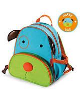 Детский рюкзак Skip Hop Dog из Zoo collection | Детский рюкзачок Собака