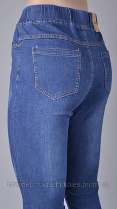 """Женские джинсовые бриджи """"Ласточка 614-2"""" (т. синие), фото 2"""