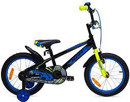 "Велосипед Aist Pluto 16"" детский голубой"