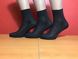 Носки мужские летние сетка хлопок Житомир размер 25(38-40) чёрные