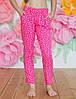 """Летние детские брюки для девочки 6-10 лет""""Звездочки"""",розовые"""
