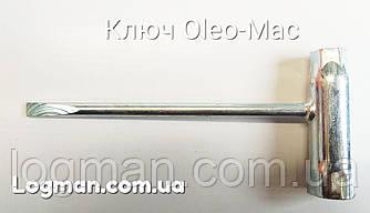 Ключ Oleo-Mac свечной,  торцевой для бензопилы, мотокосы.