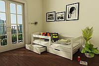 """КРОВАТЬ ДЕТСКАЯ (ПОДРОСТКОВАЯ) """"Мартель"""" 70*140  размеры массив дерева бук , детская кровать купить Украина"""