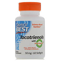 Doctor's Best, Токотриенол, 50 мг, 60 мягких таблеток