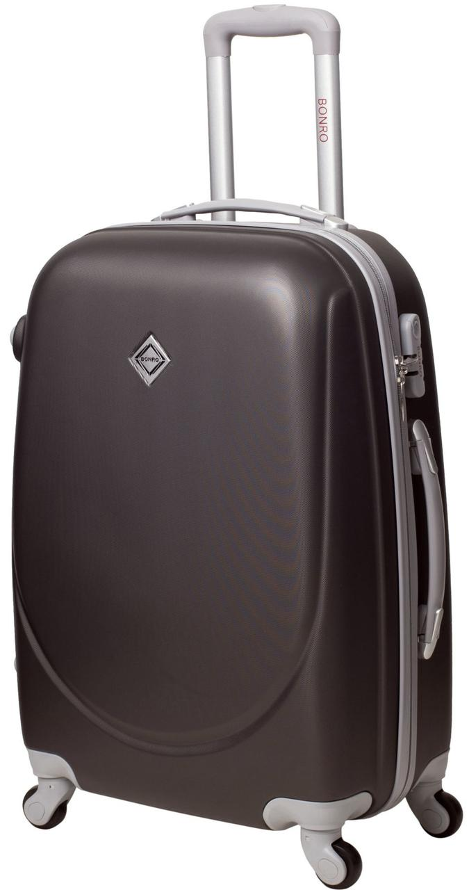 Дорожный чемодан на колесах Bonro Smile Темно-серый Средний
