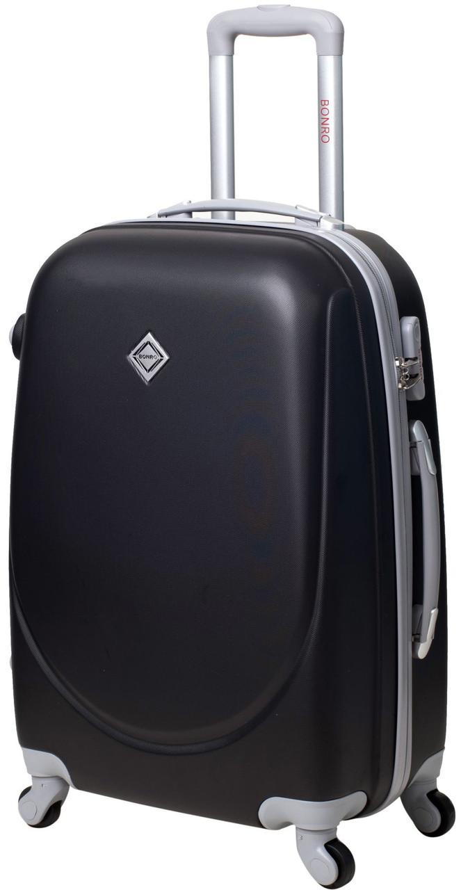 Дорожній валізу на колесах Bonro Smile Чорний Середній