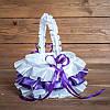 Свадебная корзинка для лепестков фиолетовая (арт. BP-013)