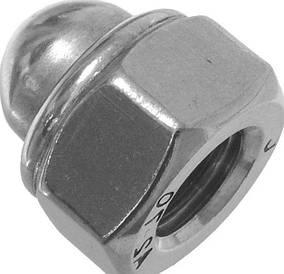 Гайка М10 з нержавіючої сталі DIN 986, самоконтрящаяся колпачковая