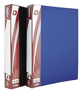 Папка пластиковая Datum A4 с 100 файлами черная