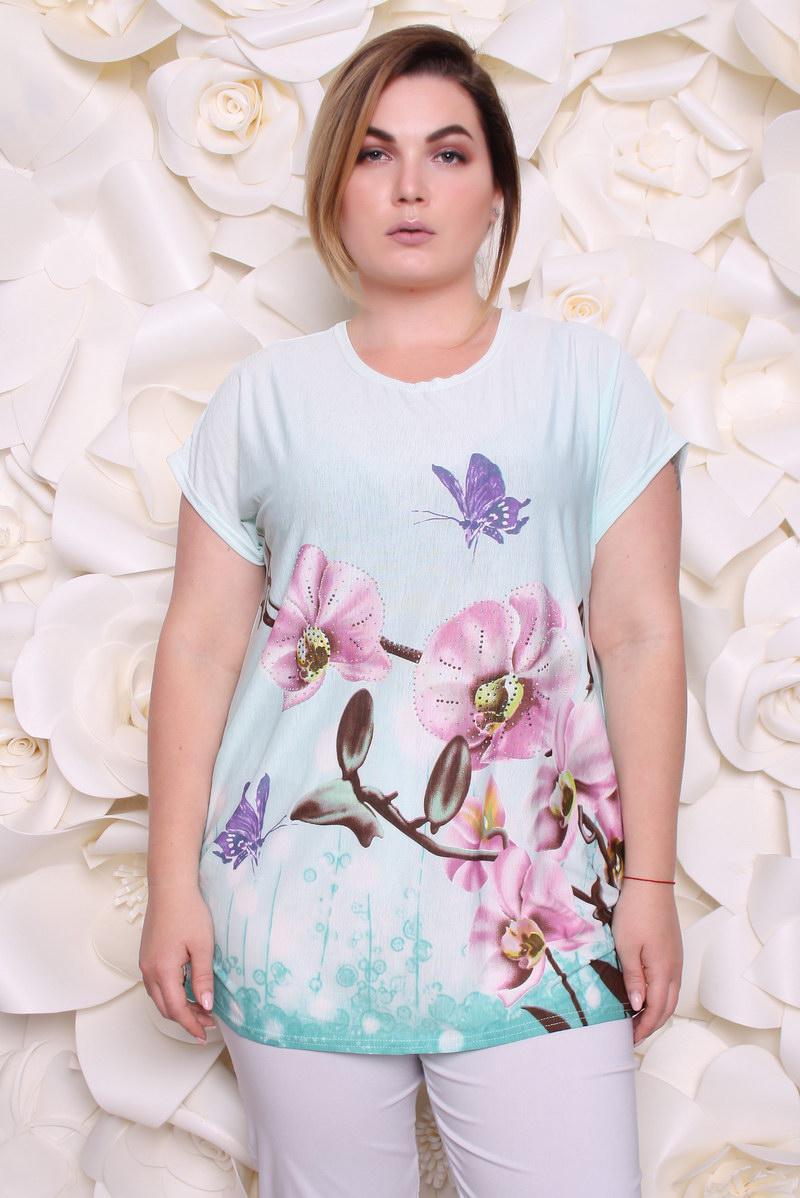 83d66a532 Блузка женская Орхидеи р 54-58 - Wellness-sistem - интернет магазин одежды и