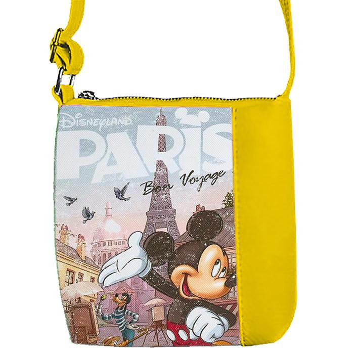 Желтая сумка с принтом Микки Маус