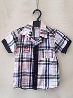 Рубашка нарядная короткий рукав 1-4  лет .Турция, фото 1