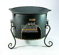 Сковородка садж чугунная 40см с печью ЭКОЛИТ 4010КС-1, фото 1
