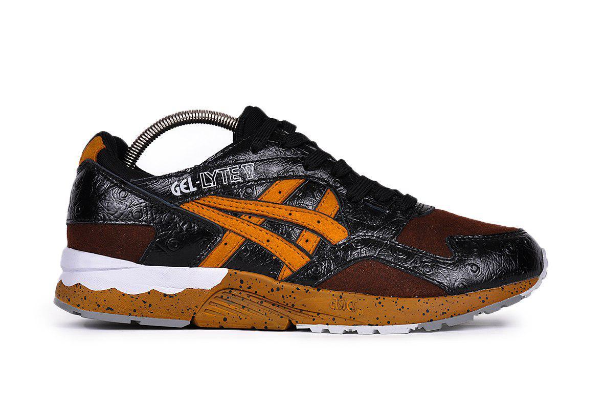 7910f048 Мужские кроссовки Asics Gel Lyte 5 (в стиле Асикс Гель Лайт)  темно-коричневые