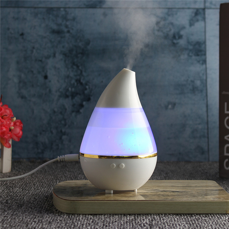 Увлажнитель воздуха 250 мл Вулкан/Капля Белый ультразвуковой. Увлажнитель воздуха для дома с подсветкой