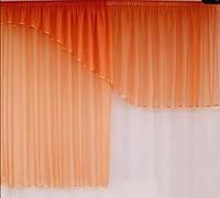 Готовые шторы для кухни Форест Оранж