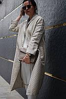 Женское легкое пальто из жаккарда, фото 1