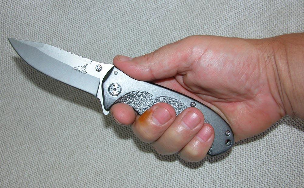 Нож Gerber N 602 (складень). Титан + алюминий, копия