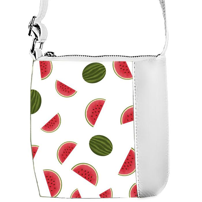 Белая сумочка с принтом Фрукты
