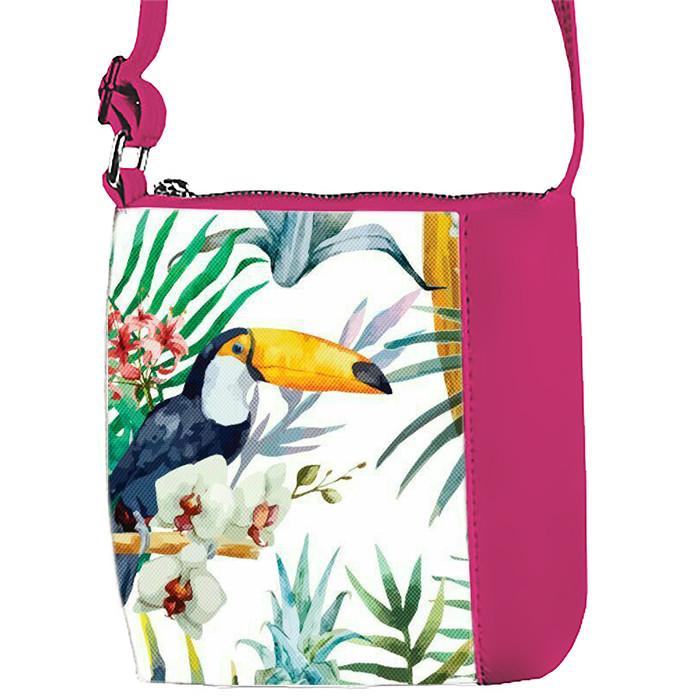 Розовая сумочка с принтом Пеликан