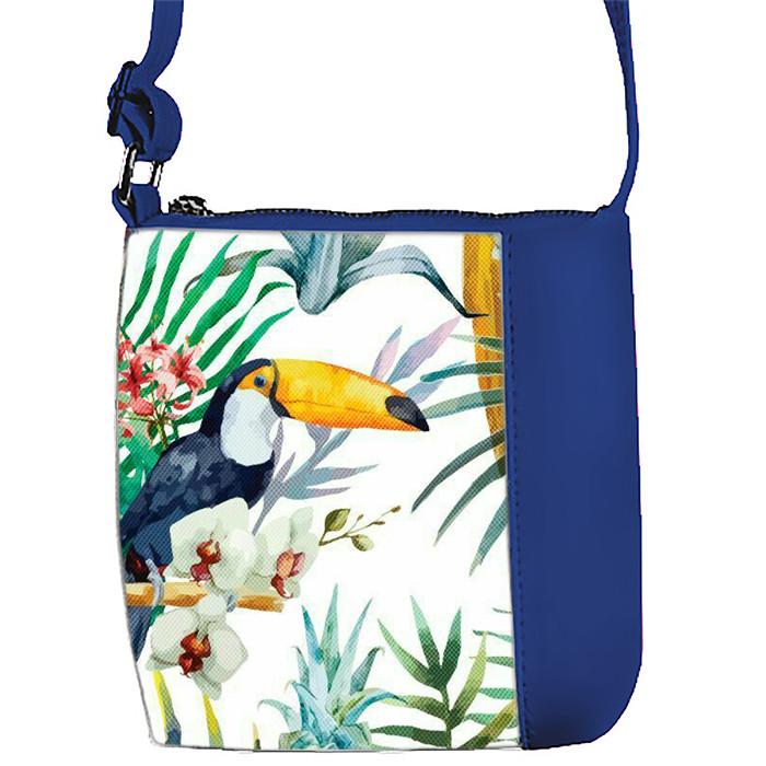 Синяя сумочка с принтом Пеликан