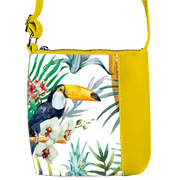 Желтая сумочка с принтом Пеликан