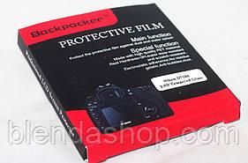 Захист основного і допоміжного LCD екрана Backpacker для Nikon D500, D7100, D7200, D750, D5, D4S - скло