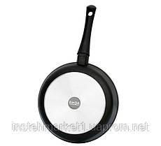 Сковорода БИОЛ 22071ПС (диаметр 220 мм) алюминиевая с антипригарным покрытием, бакелитовая ручка, крышка, фото 2