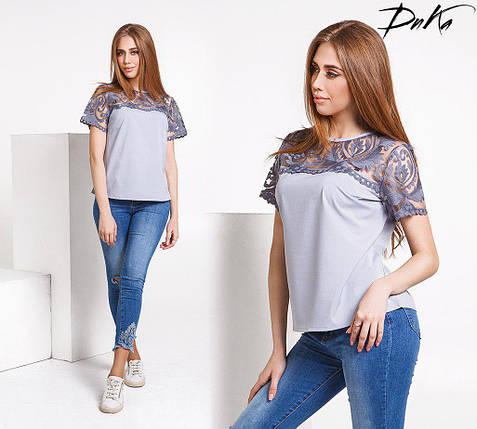 Блуза с кружевом, фото 2