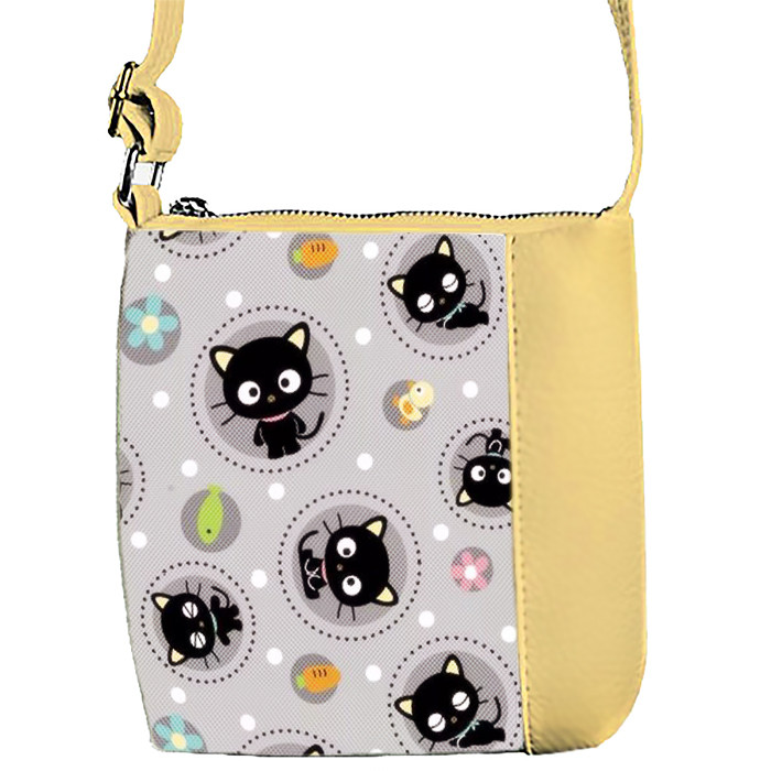 Бежевая сумочка с принтом Котики