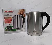 Чайник электрический MPM MCZ 69M металлический на 1.7л
