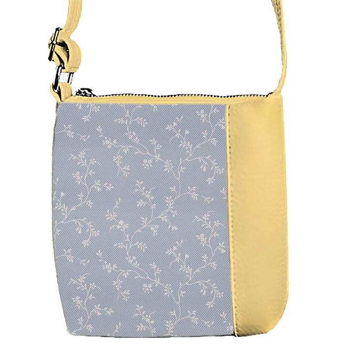 Бежевая сумочка для девочки с принтом Веточки