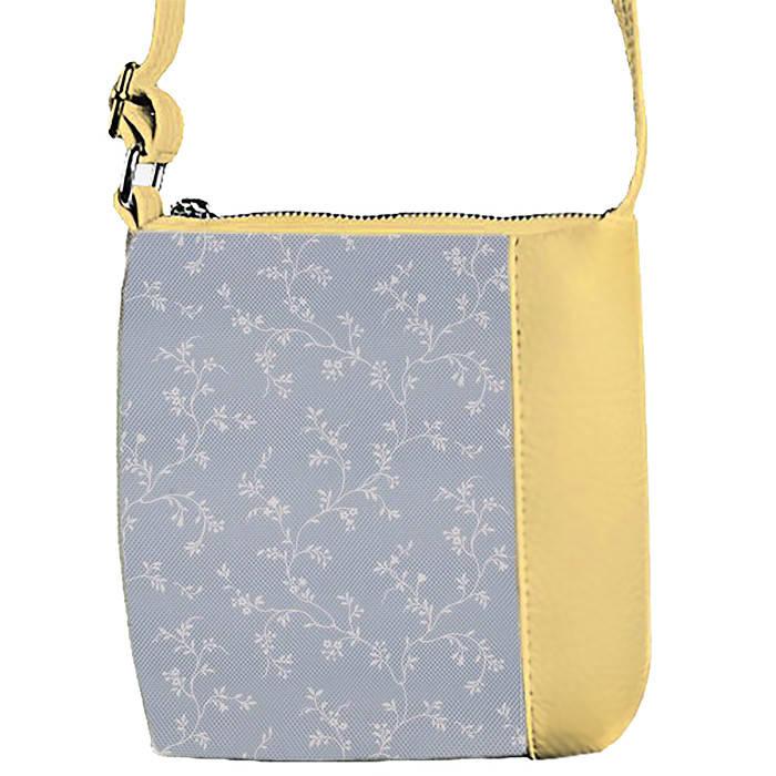 Бежевая сумочка с принтом Веточки