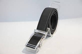 Пояс из кожзама, пряжка автомат черного цвета. Длина полотна 1200 мм. (11447)