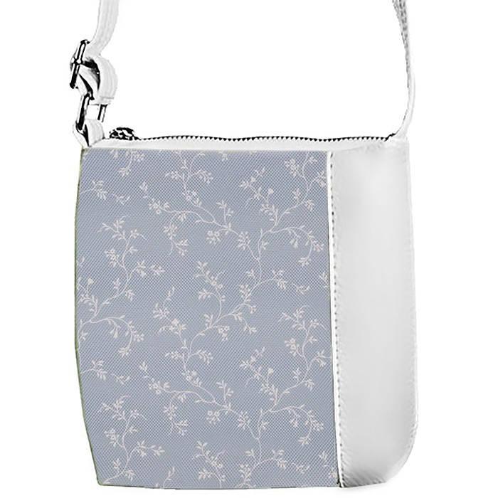 Белая сумочка с принтом Веточки