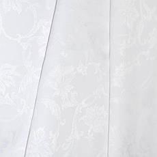 Teflon Цветы-150 (Рис.2) Белая Скатертная ткань с пропиткой Тефлон 150см, фото 3