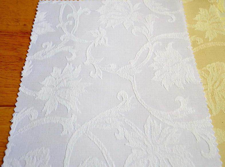 Teflon Цветы-150 (Рис.2) Белая Скатертная ткань с пропиткой Тефлон 150см