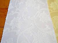 Teflon Цветы Рис.2 Белая Скатертная ткань с пропиткой Тефлон 150см