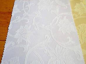 Teflon Квіти-150 (Рис.2) Біла Скатертная тканина з Тефлоновим просоченням 150см, фото 2